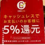 キャッシュレス消費者還元事業対象店!